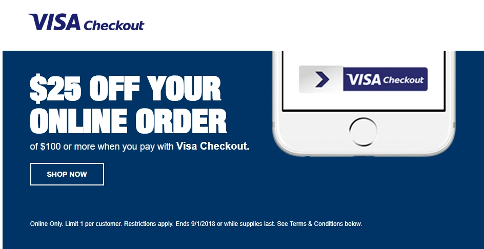 staples 25 off 100 with visa checkout offer intelligent offers