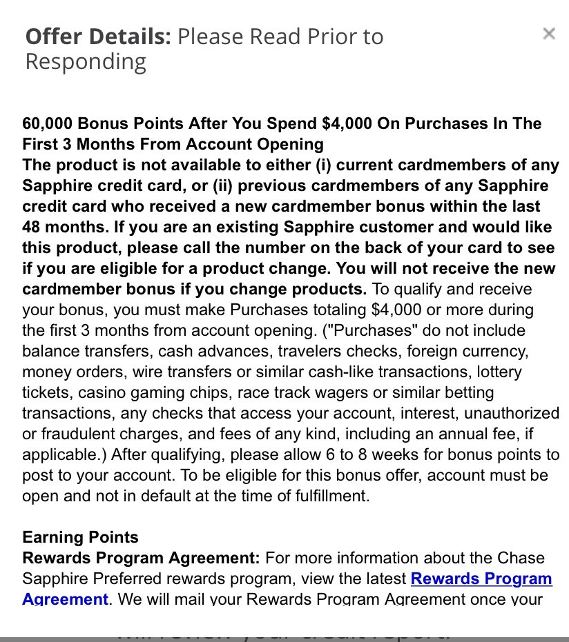 Expired Chase Sapphire Preferred Earn 60 000 Bonus Points Pre