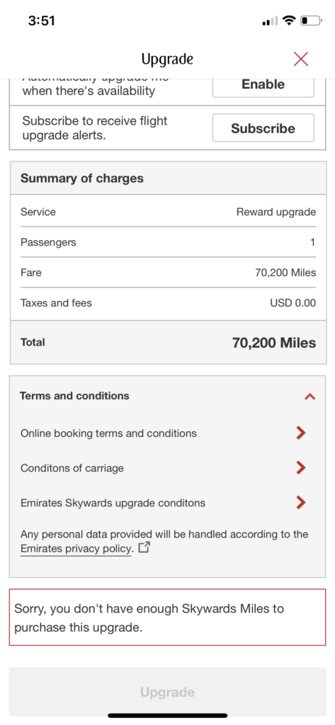 Chase UR adds Emirates as Rewards Transfer Partner and How